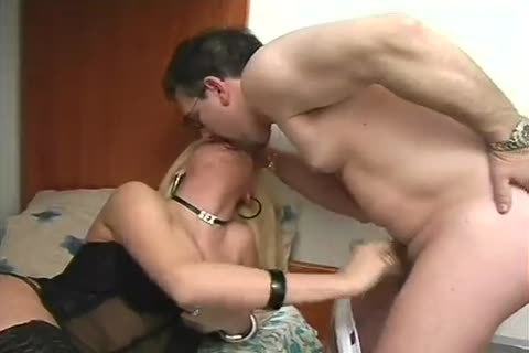 Blond Latino lady-man In lingerie poke Hard An daddy lad