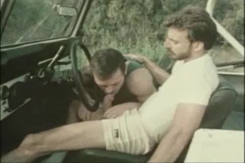 Vintage blowjob In A Car