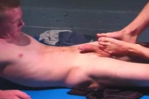 Two men Footjobs And wazoo nailing