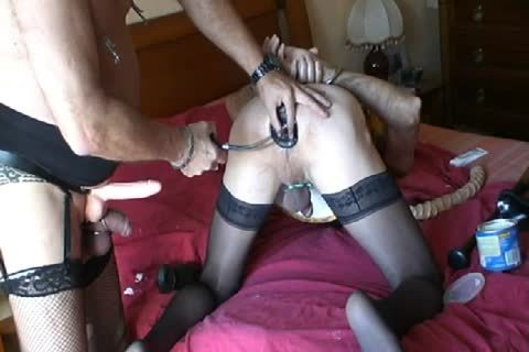 Motherfucker  On The Marital sofa And Then Fisted sex toy With A massive sex toy