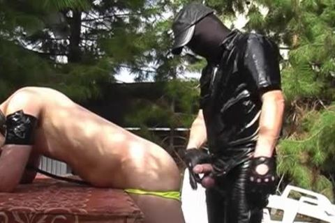 A lad Dressed In Latex Who Wants To fuck
