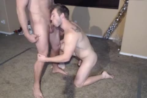 2 Muscle males in nature's garb Wrestling.The  Loser One Gives A oral sex enjoyment. love juice Facial 1st Time On web camera.