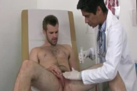 Businessman Examined By homo Male Doctor once hi