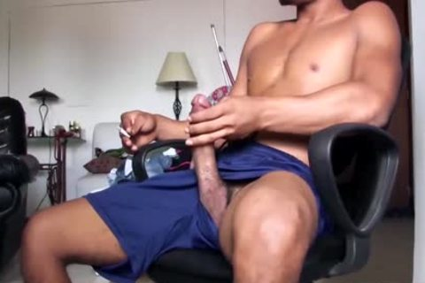 big Dicked gracious Latino dude Is Working His massive Load