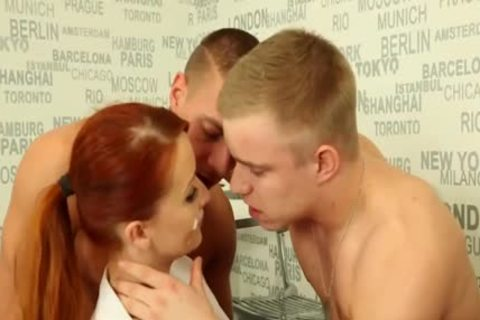 fine bisexual boyz pounding With A Redhead