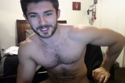 wild hairy Hunky Doing A cam Show.