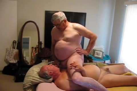 Two old men Playing In bed