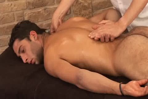 charming Hunky Adrian Getting nice Sensual Massage On His Searing Body And Hard Tool