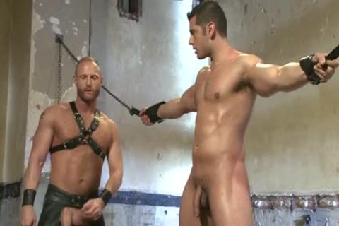 Muscle gay tied With Facial cum