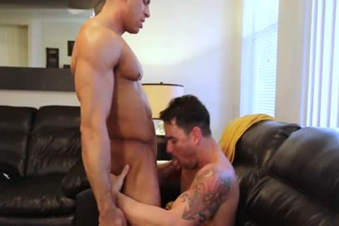Muscle Son hardcore anal job And goo flow