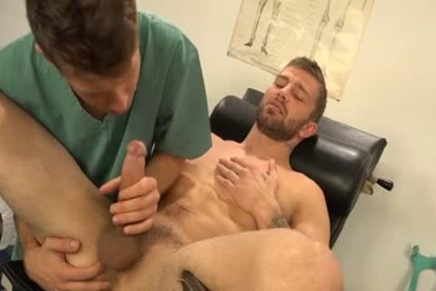 Muscle homosexual Dp With cum flow