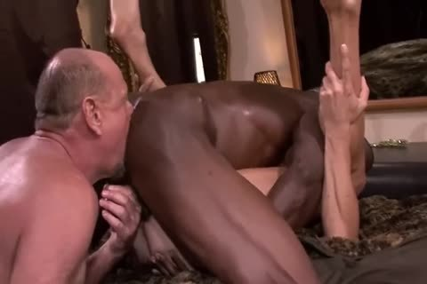 Interracial old 3some