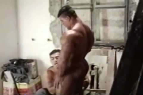Brasil Bodybuilders large wazoo pounded By Hunk