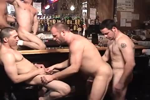 Muscle Spouse Nail Each Other In The Keister In The Bar.