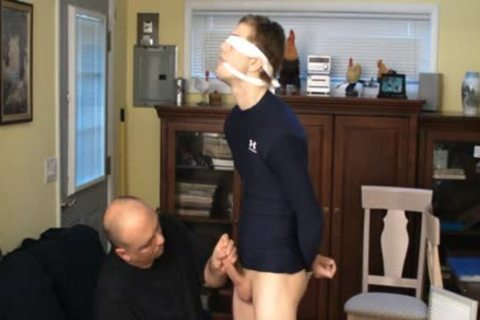 Straight Captive boy, tied And Gagged, Made To sperm