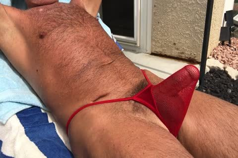 Sunbathing kinky bushy Daddy
