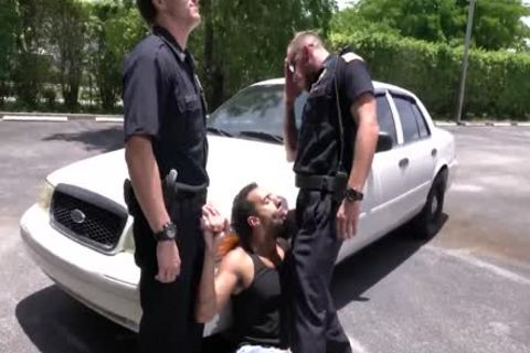Criminal Perp And Two lewd Cops