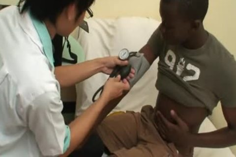 black And asian A bare Doctors Visit