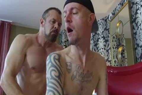 Robert Rexton get's poked By Muscle Daddy's Max Sargent & Chance Caldwell