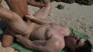 Sex On The Beach - Brent Everett & Eric Clark butthole invasion