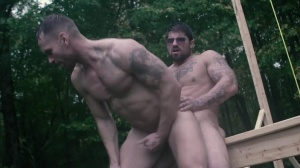 Battle Buddies - Ryan fucks, Kit Cohen butthole pound