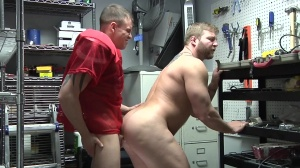 Janitor's Closet - Colby Jansen and Darin Silvers butt Hook up