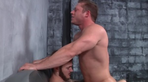 First Time Bottom - Christian Wilde with Joey Carter butthole dril
