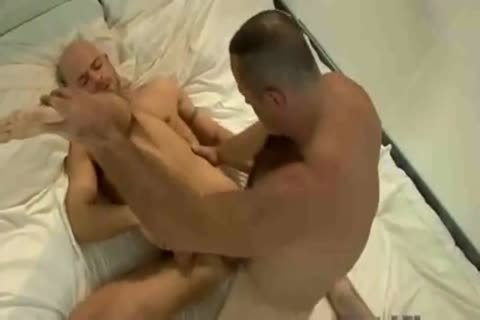 shaggy older Daddy Bear Blasting That anal