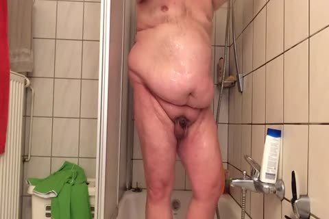 chubby chap wanking In The Shower For you