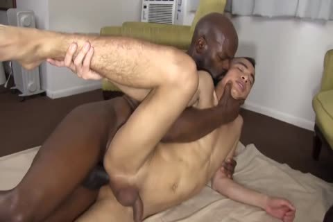 black Daddy Chokes A boy With His penis