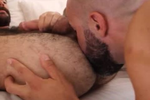 hairy males pound in nature's garb