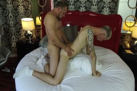 Robert Rexton receives drilled By Muscle Daddies Max Sargent & Chance Caldwell