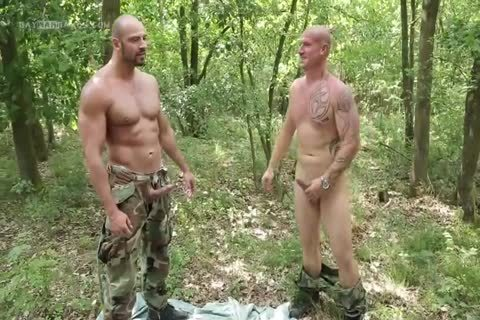 guy Hard Barefucked By two Soldiers