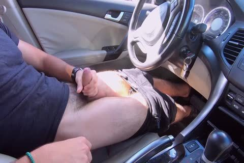 dark lad gets Caught Watching White lad jack off In His Car