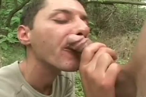 Two concupiscent twinks Share A horny nail In The Woods