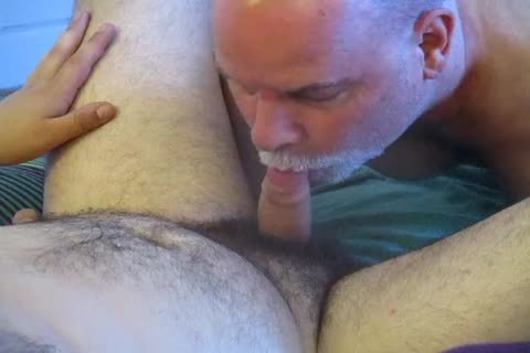 bi-raunchy Bear Cub's First oral To Completion.