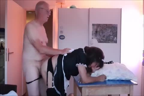 Maid Sissy Cleans abode Sucks rod gets drilled