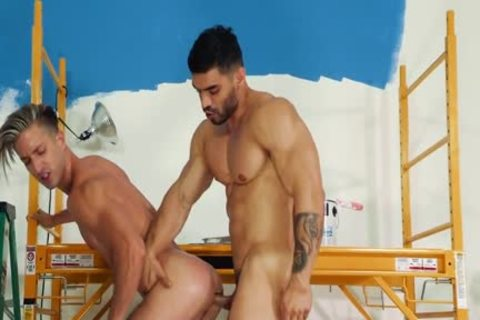 pumped up Painters fucking naked