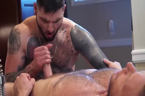 Tattooed lad receives His butthole Massaged