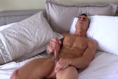 Different fellows With gigantic weenies Jerking-off