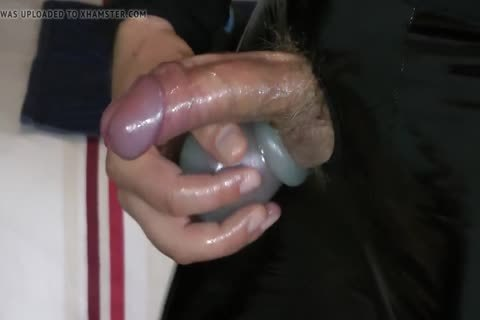 Masturbation In Varnish And Leather Pants With pecker gap
