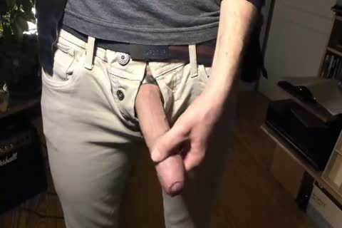 Web cam large, lengthy, thick, Veiny, Uncut weenie Jerking