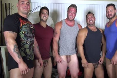 nude Party @ LATINO Muscle Bear abode - dilettante fun W/ Aaron Bruiser