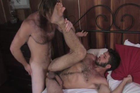 hirsute Ginger nails Buddy In Cabin