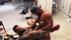 Pup & Tank bang raw All Over A Construction web page - American Sex
