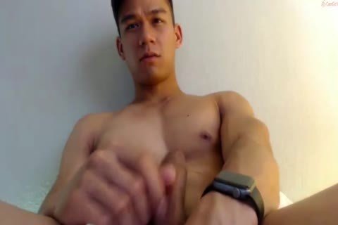 oriental handsome lad jerk off