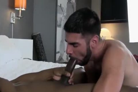 Incredible Male In superlatively valuable Interracial, gigantic shlong homosexual