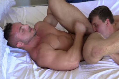 str8 Stroking Each Other RIGHT previous to butthole plow! lusty penises