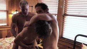 FamilyDick.com: Wet Dale Savage hard stripteasing in the bed