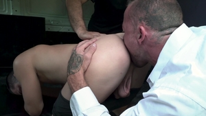 Family Dick - Kenny Cox next to Sean Duran tied up